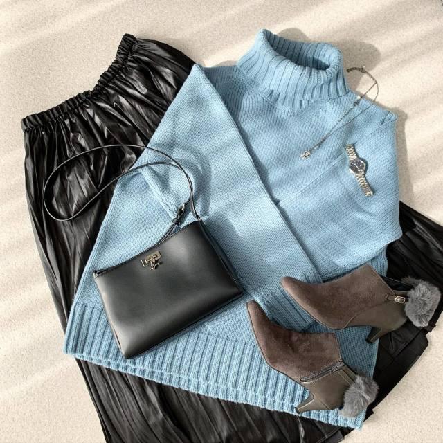 レディースファッショントレンド_レザースカート2