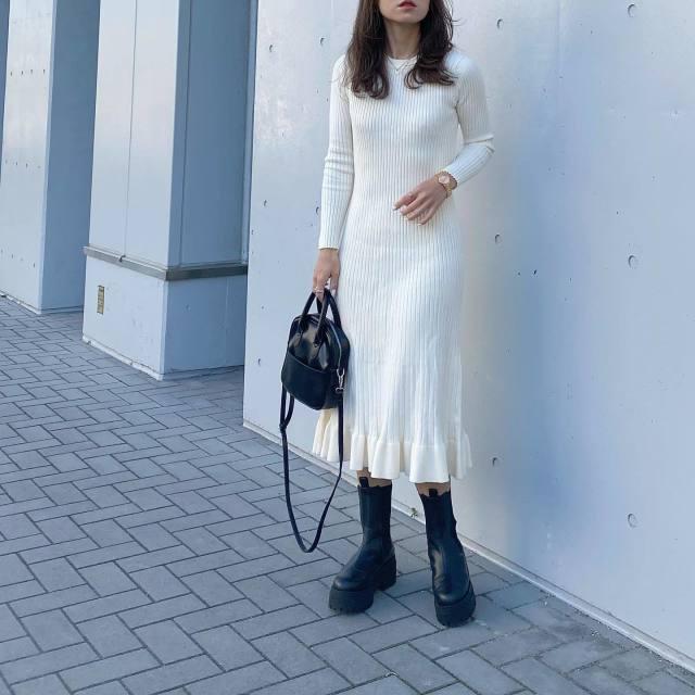レディースファッショントレンド_ゴツめブーツ